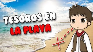 FINDING TREASURES ON THE BEACH ? Roblox Beach Simulator in Spanish