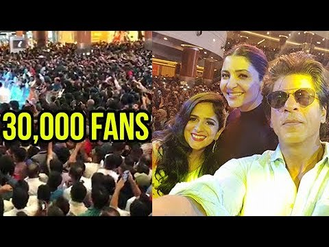 Shahrukh Khan Mobbed By 30000 Fans In Dubai Dalma Mall | Jab Harry Met Sejal Promotion