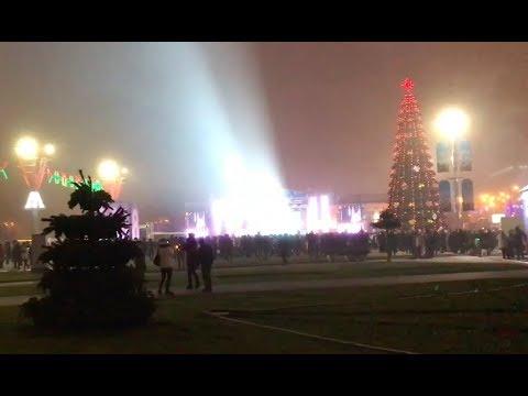 Vlog-002:2018年白俄罗斯明斯克跨年焰火音乐晚会|白罗斯