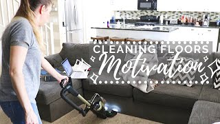 QUICK Floor Cleaning Motivation // Cleaning Mom