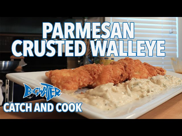 Parmesan Crusted Walleye Nuggets Recipe - Bigwater Catch and Cook Fish Recipes