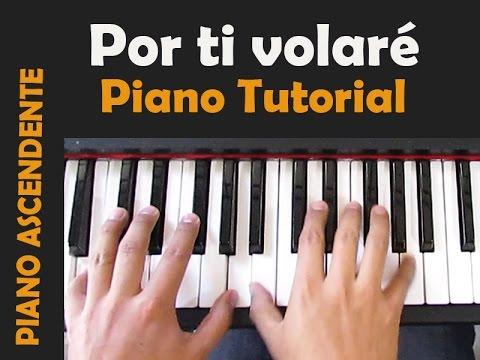 POR TI VOLARÉ (Time to say goodbye) -Andrea Bocceli//Tutorial  Piano