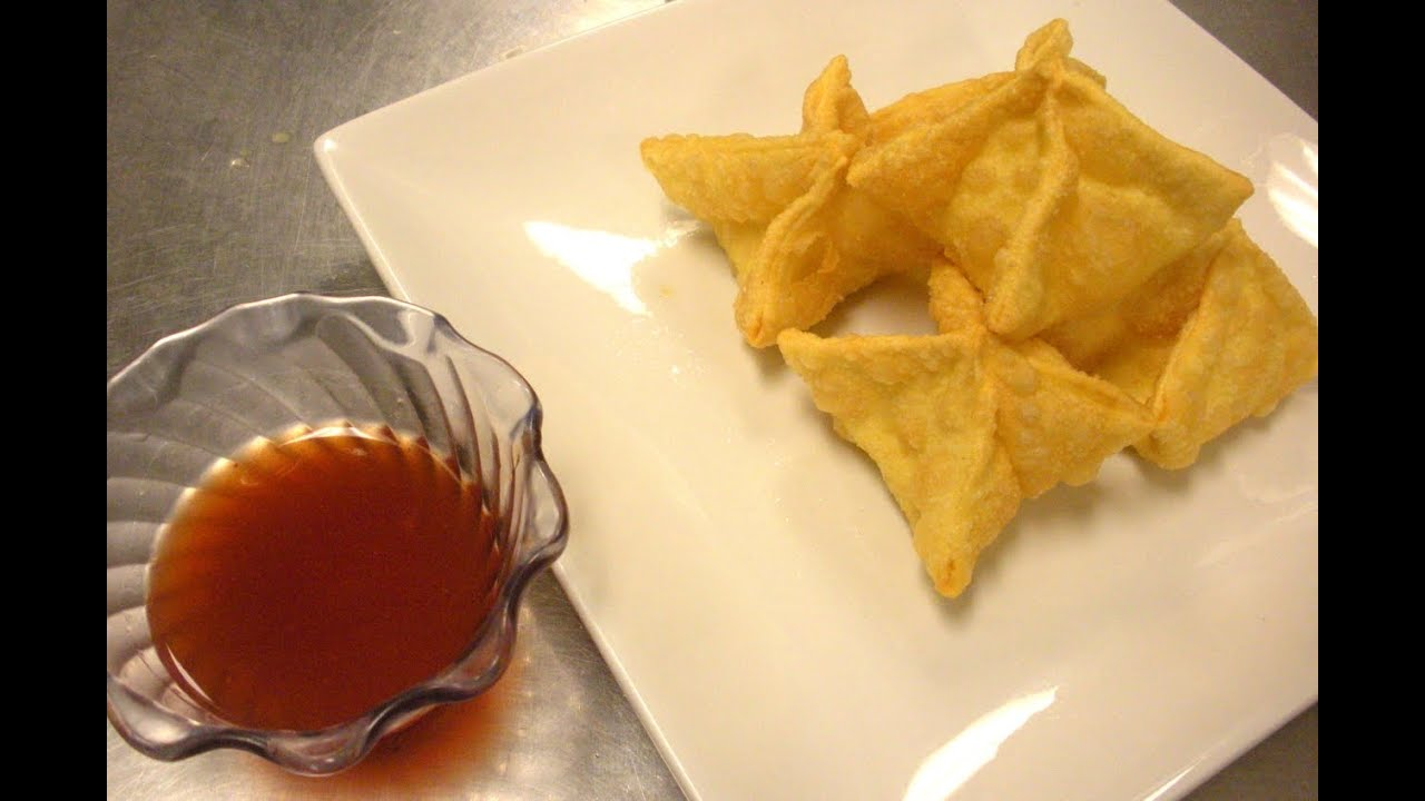 How to Make Cream Cheese Wontons & Crab Rangoon - YouTube