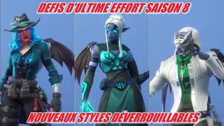 FORTNITE: Ultimate Effort Challenges Season 8, NEW SKIN VIPERE STYLES, TISON, CLES GARDIENS