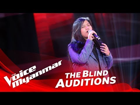 """Christina BLY: """"Wrecking Ball"""" - Blind Audition - The Voice Myanmar 2018"""