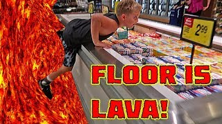 INSANE FLOOR IS LAVA CHALLENGE IN PUBLIC!