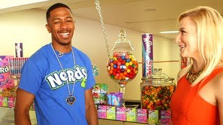 nick cannon gives popsugar a tour of his candy room and talks mariah carey on idol