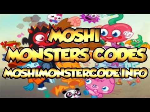 Moshi Monsters Codes - Moshi Monsters Secret Codes - Moshlings & Rox & Membership