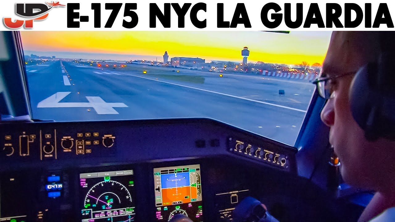 Piloting Embraer 175 from New York La Guardia | Cockpit Views