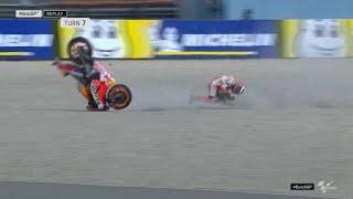 Lorenzo crash | dutchgp fp1 | motogp2019