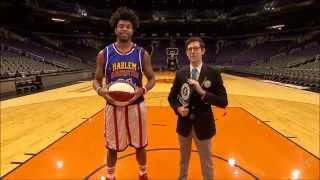 World Record Longest Underhand Basketball Shot! | Harlem Globetrotters