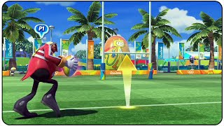 Mario and Sonic at the Rio 2016 Olympic Games (Wii U) - All Characters Rugby Gameplay