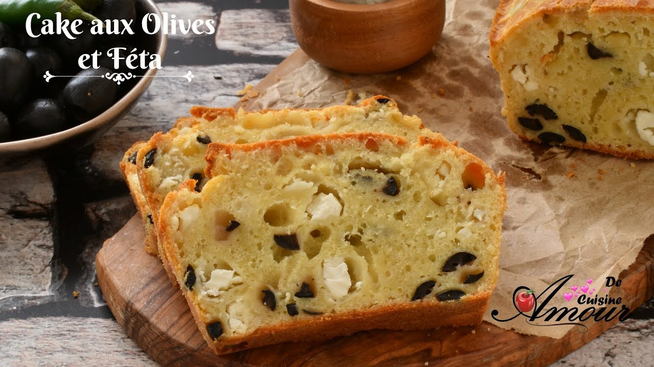Cake sal aux olives et f ta entr e simple et facile - Youtube cuisine facile ...
