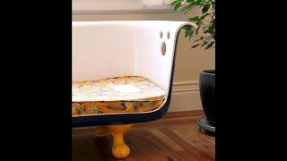как сделать из ванной диван