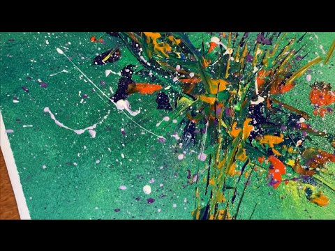 Abstract Acrylic Painting Demo | Colorful & Relaxing | Easy & Creative Art Techniques