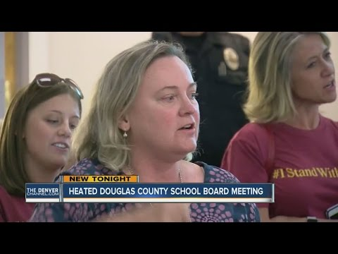 Douglas County School Board Meeting gets heated