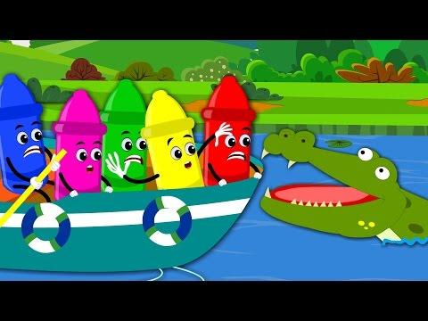 row row row your boat | nursery rhymes | kids songs | baby videos | crayons rhymes