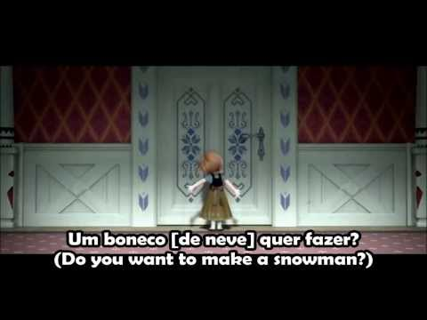 Frozen - Do You Want to Build a Snowman? (Brazilian Portuguese) + Subtitles & Translations
