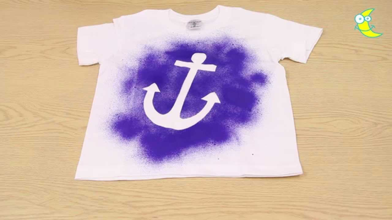 Nice Spray Paint T Shirt Ideas Part - 1: How To Make An Anchor Spray Paint T-shirt - YouTube