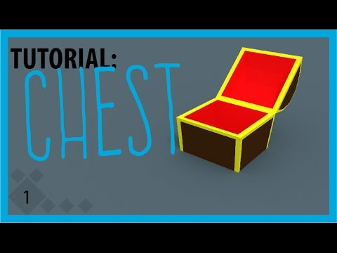 Blender Tutorial: Low Poly Chest + Animation + Shape Keys