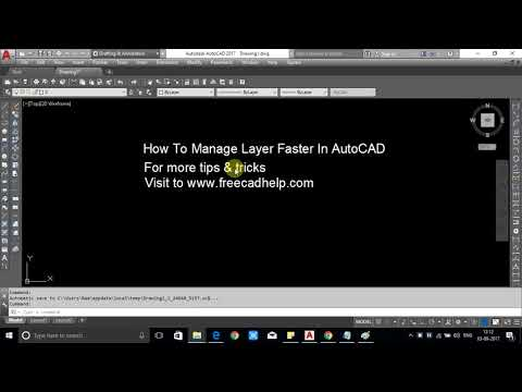 How To Manage Layer Faster In AutoCAD Showing With Image And Video
