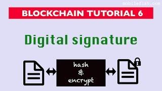 Blockchain tutorial 6: Digital signature