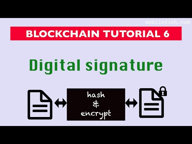 Blockchain tutorial 6: Digital signature