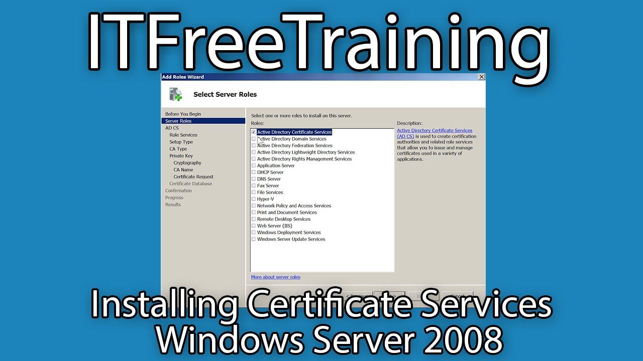 Installing enterprise ca for ad fs on windows server 2008 r2 youtube installing enterprise ca for ad fs on windows server 2008 r2 yelopaper Gallery