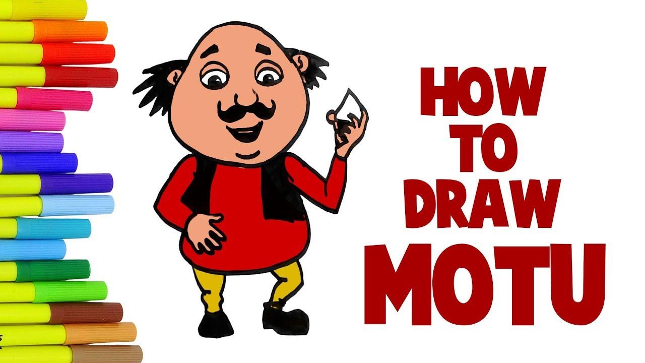 How To Draw Motu How To Draw Motu Patlu Motu Youtube