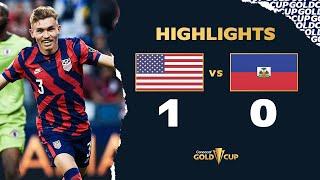 Highlights: USA 1-0 Haiti - Gold Cup 2021