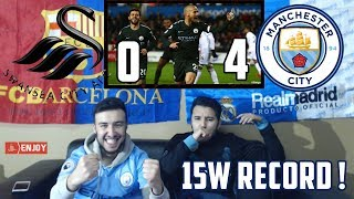 BARÇA & MADRID FANS REACT TO: MAN CITY 0-4 RECORD BREAKING WIN OVER SWANSEA - REACTION