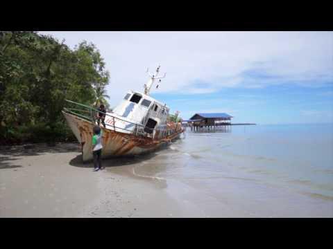 Labuan Trip   Abandoned Ship & Skating the Beach
