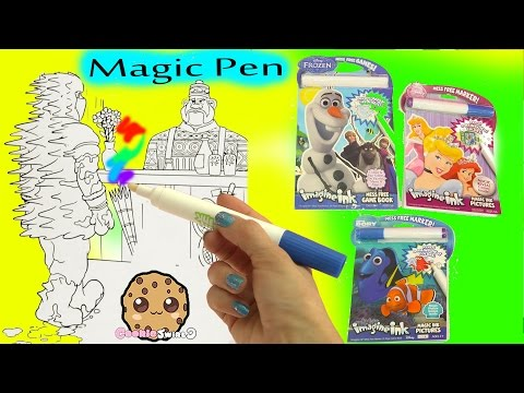 Thumbnail: Magic Imagine Ink Rainbow Color Pen Surprise Picture Books of Disney Frozen, Finding Dory + More