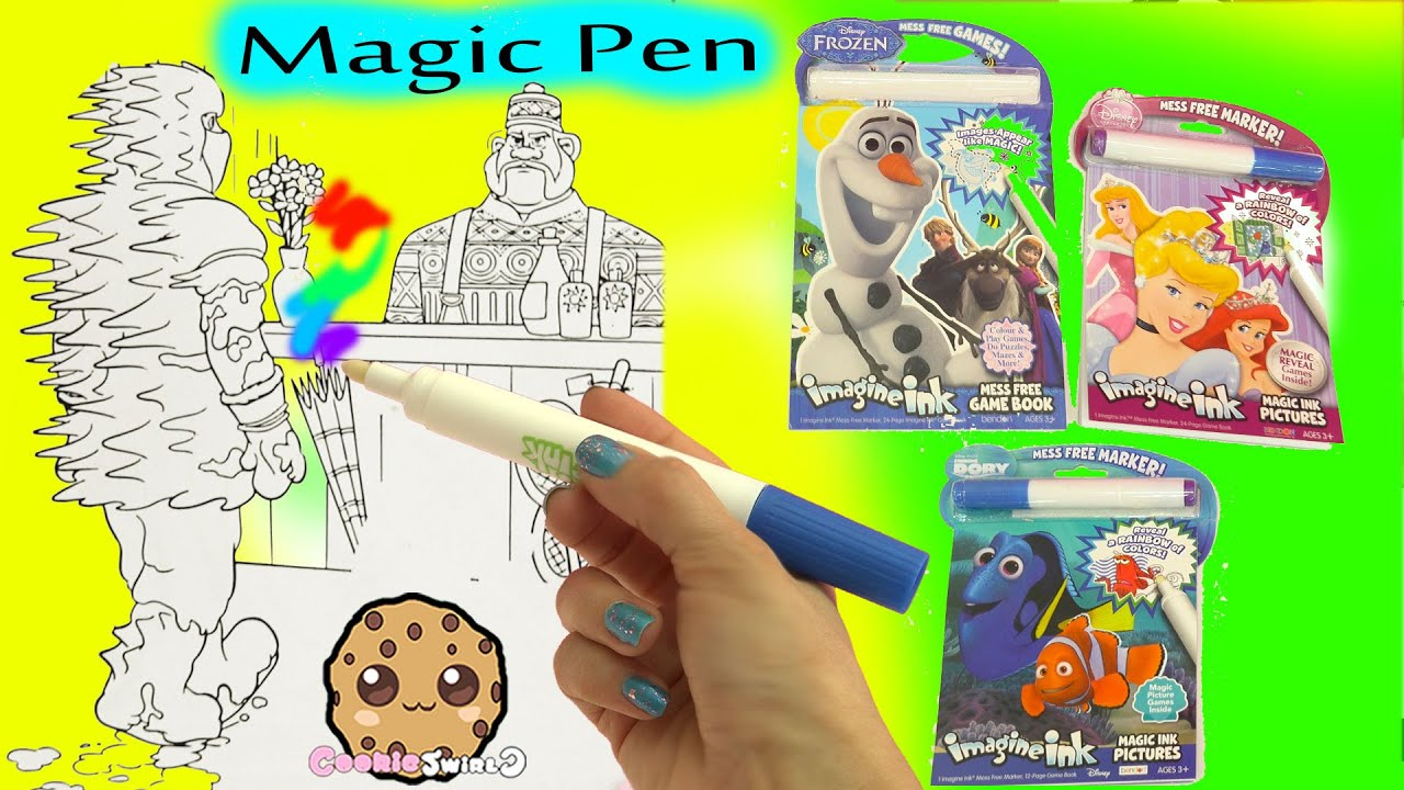 Magic Imagine Ink Rainbow Color Pen Surprise Picture Books Of Disney Frozen Finding Dory More