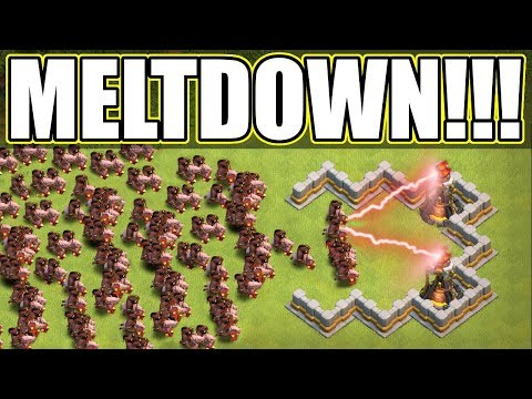 IMPOSSIBLE!?.....I THINK NOT!! - Clash Of Clans - HOG RIDER MELT DOWN!
