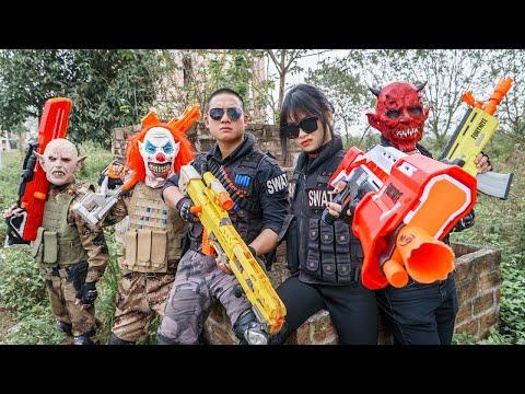 LTT Films : Squad Police Seal XXx Nerf Guns Fight Criminal Group Tiger Mask Mysterious Man Nerf War