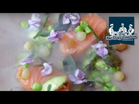 Crunchy Wasabi-Lime Salmon with Red Cabbage and Sugar Snaps