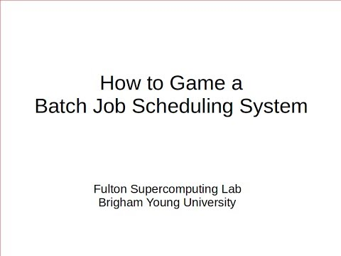 How to Game an HPC Batch Job Scheduling System