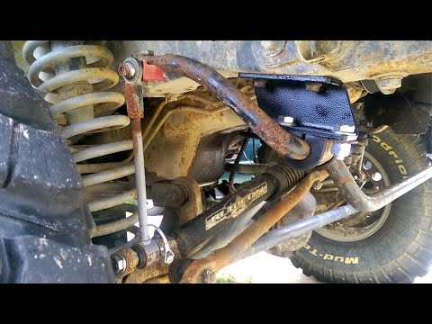 89 Cherokee Sway Bar Relocation Brackets, Axle Bullets, and Bushings