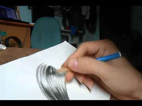 Vẽ tóc bằng bút chì
