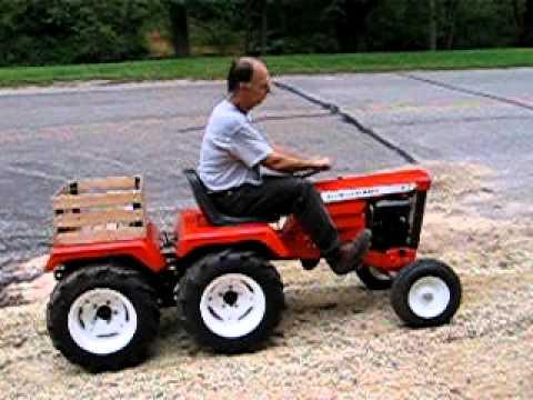 Allis Chalmers Allisgator 4 Wheel Drive Garden Tractor   YouTube