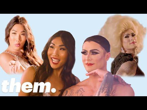 Gia Gunn Gives Kyle Krieger a Drag Makeover | them