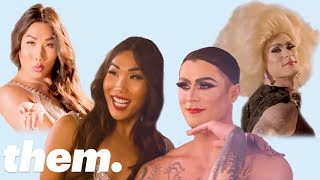 Gia Gunn Gives Kyle Krieger a Drag Makeover | them