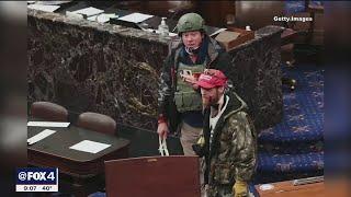 Air Force veteran identified as Capitol rioter carrying zip ties on Senate floor