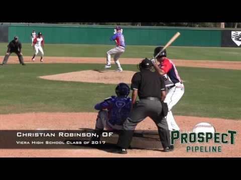 Christian Robinson, OF, Viera High School, Home Run at the Area Code Games
