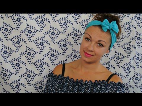 Látková čelenka do vlasů   DiY Hair Accessories   How to Make a Bow Headband d7236c7ae9