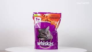 Обзор корма Whiskas Вкусные подушечки с говядиной и кроликом