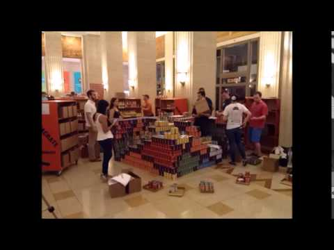 Perkins+Will and Thornton Tomasetti  | Canstruction 2015  |  Rubiks Cube Time Lapse