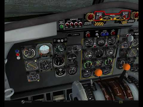 FSX | Fokker F27 Friendship | Landing at ESCF | Carrying Courier Documents from EKAH