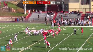 Montclair State Football Highlights vs. WPU - 11/11/17